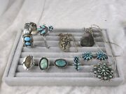Native American Sterling Silver Turquoise Jewelry Lot