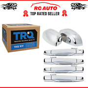 Trq Chrome Outside Door Handles With Mirror Caps Trim Upgrade Fits Gm Pickup