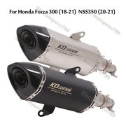 For Honda Forza300 Nss350 Motorcycle Exhaust Pipe Mid Link Tube Muffler Slip On