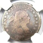 1798/7 Draped Bust Dime 10c 16 Stars Coin - Certified Ngc Vg Detail - Rare Date