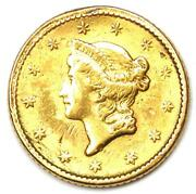 1852 Liberty Gold Dollar G1 - Au Details - Rare Early Gold Coin