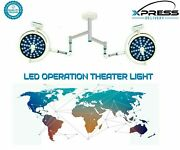 Double Arm Led Ot Lights Surgical Operation Theater Light 48+48 Examination Lamp