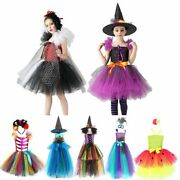 Halloween Costume Witch Tutu Dress For Girls Descendants Tinkerbell Party