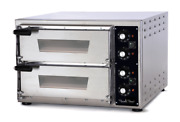 Electric Pizza Oven - Refractory Stone - Made In Italy - Twin Deck