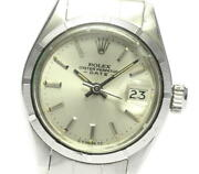 Rolex Wristwatches Oyster Perpetual Date Ss Silver Automatic Case Size 26mm