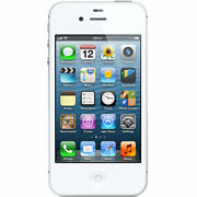 White Apple Iphone 4s 8gb Unlocked Cell Phone Fido Rogers Chatr Telus Fizz And +