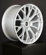 4 Gwg Hp3 22 Inch Staggered Silver Rims Fits 5x114.3 Cb74.1
