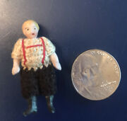 Antique German Carl Horn Miniature Bisque Doll Crocheted Clothes