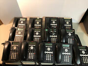 Lot Of 13 Black Avaya 1608-i Desktop Phones Voip Business Office Cord And Stands