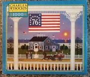 Rare Mb Charles Wysocki Nantucket 4th Of July 1000 Piece Puzzle Complete