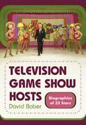 Television Game Show Hosts Biographies Of 32 Stars, David Baber, Good Book