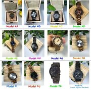 Menand039s Wooden Watches Fine Quality Wood Watch Gift For Men Engrave Custom Watch