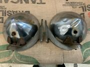 Antique Glolite Twilite Brackets And Head Lamps Fire Truck, Cars 1920's 1930's X2