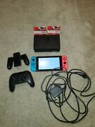Pre-owned Nintendo Switch With Wireless Pro Contoller And 40 In Nintendo Gift...
