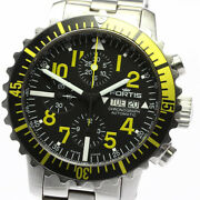 Fortis Wristwatches Chronograph Ss Dial Color Black Automatic Case Size 42mm