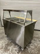 3 Well Electric Steam Table And Sneeze Guard 120v On Wheels Duke Ep303-25ss 6715