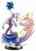 G.e.m.ex Series Pokemon Mew And Mewtwo Approx. 190mm Painted Figure