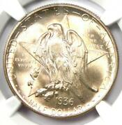 1936-d Texas Half Dollar 50c Coin - Certified Ngc Ms68 - 11,000 Ngc Guide Value