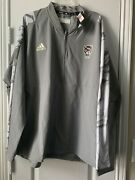 Menand039s Adidas Gray Nc State Wolfpack Quarter-zip Jacket. Size Xxl. Msrp 110