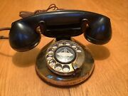 Antique Rotary Polished Brass Phone With Bakelite Receiver
