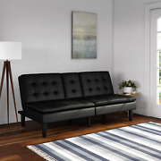 Futon Mainstays Memory Foam Faux Leather Pillowtop With Cupholder Coach Sofa