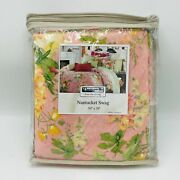 Discontinued Thomasville Nantucket Swag Breton Pink Floral Cottage Core Window