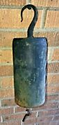 Antique Iron Forged Cylinder Bell Dinner Chime Large Farm House/ranch W Hook