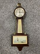 Vintage 1920s New Haven Clock Co. Whitney Banjo Wall Clock