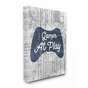 Stupell Industries Gamer At Play Quote Video Game Technology Boys Designed By...