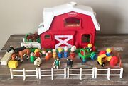 Lot Fisher Price Little People Farm Barn And Animals Fun Sounds Working