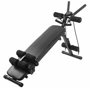 Foldable Adjustable Weight Abdominal Benches Supine Board Fitness Home Gym Led