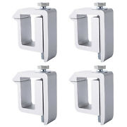 Truck Cap Camper Shell Mounting Clamp Accessories Set Of 4 - Silver