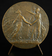 Medal 1917 Americas Usa And France Uk Woodrow Wilson Cathedral Our Lady Paris