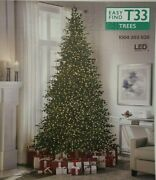 New 9 Ft Elegant Grand Fir Led Pre-lit Artificial Christmas Tree With Timer