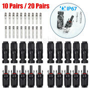 10 Pairs Male Female M/f Wire Cable Connector Adapter Set For Solar Panel 30a
