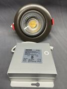 """Nicor Recessed Intergrated Led Gimball Downlight Kit, 4"""" Oil Rubbed Bronze 4000k"""