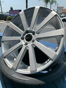 20 Inch Staggered Gianelle Santoneo 5x114.3 Gloss Silver Ball Cut On Sale