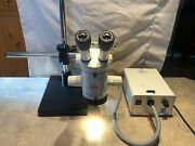 Leica Mz6 Inspection Stereo Microscope 1.0x Objective And Articulating Stand