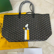 Goyard Saint Louis Pm Tote Bag With Pouch Snoopy Limited Edition Black