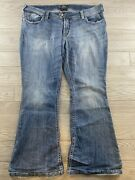 Silver Jeans Womenand039s Camden Rose Bell Boot Cut Flare Size 22/33 Plus