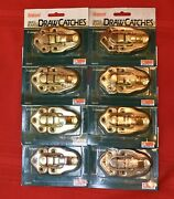 Lot Of 8, Brainerd Brass Plated Draw Catches, Made In The Usa