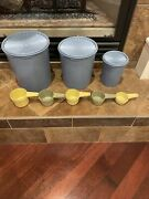 Vintage Tupperware Servalier Nesting Canisters W/lids And Measuring Cups Mixed 8