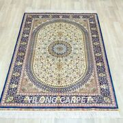 4and039x6and039 Handknotted Silk Carpet Antistatic Living Room Oriental Area Rug Tj215a
