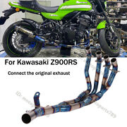 For Kawasaki Z900rs Motorcycle Front Link Pipe Slip Exhaust Header Tube Titanium