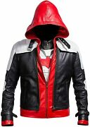 Lasumisura Replica Style Red Hood Menand039s Faux Leather Jacket + Vest
