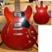 Yamaha Sa700 Electric Guitar Persimmon Red 80and039s Vintage W/ Soft Case From Japan