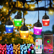 39ft Color Changing Gazebo Lights Micert Outdoor String Led Xmas Holiday Gift