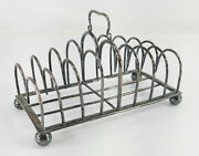 Antique French Christofle Silver Plate Wire Toast Rack Christopher Dresser Style