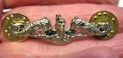 U.s. Navy Submarine Dolphin Lapel Or Hat Pin Silver Filled 1 1/2 Inches