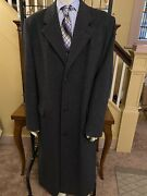 King Size Big Andtall Wool Long Top Trench Coat Overcoat Mens Sz 46l Tall Charcoal